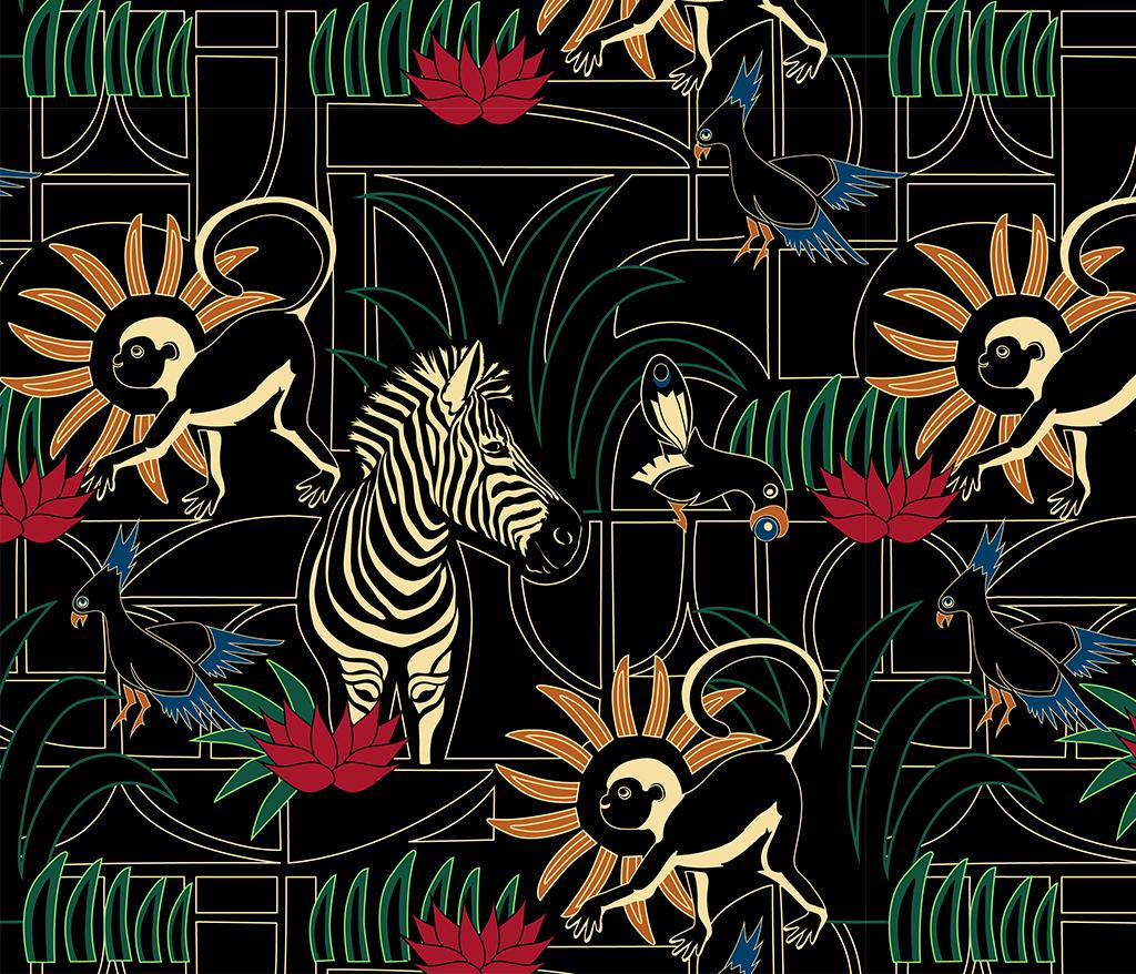 Werkstatte Jungle Pattern