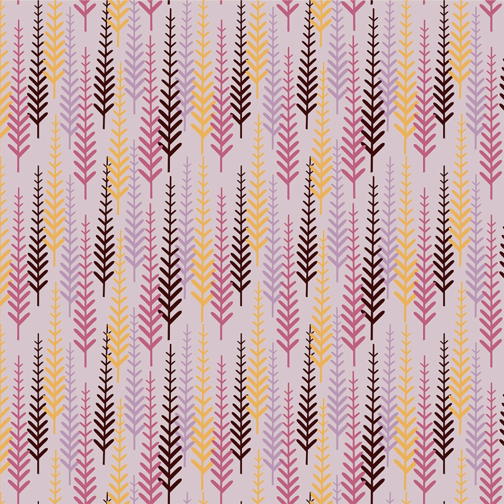 Harvest Trees pattern design
