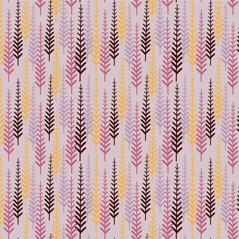 Harvest Trees pattern design
